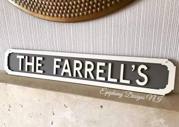 Personalised Wooden Street Sign - Wall hanging