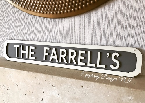 Vintage Wooden Street Sign - Wall hanging