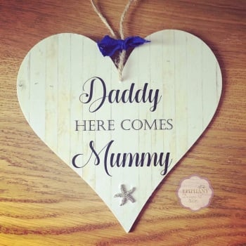 Here comes...Mummy, Auntie, My godmother, My Nanny - personalised heart plaque