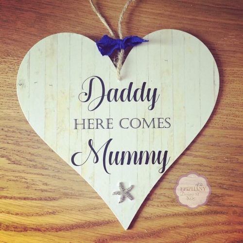 Here comes...Mummy, Auntie, My godmother, My Nanny - personalised plaque