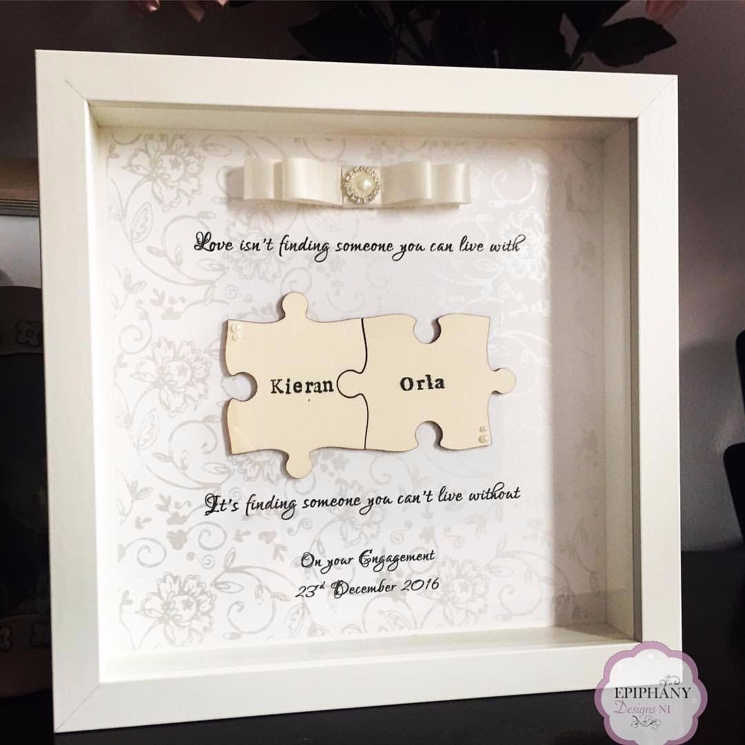 jigsaw frame - ivory ribbon