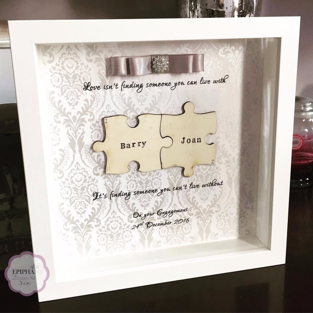 Jigsaw Box Frame - Personalised - Silver tones