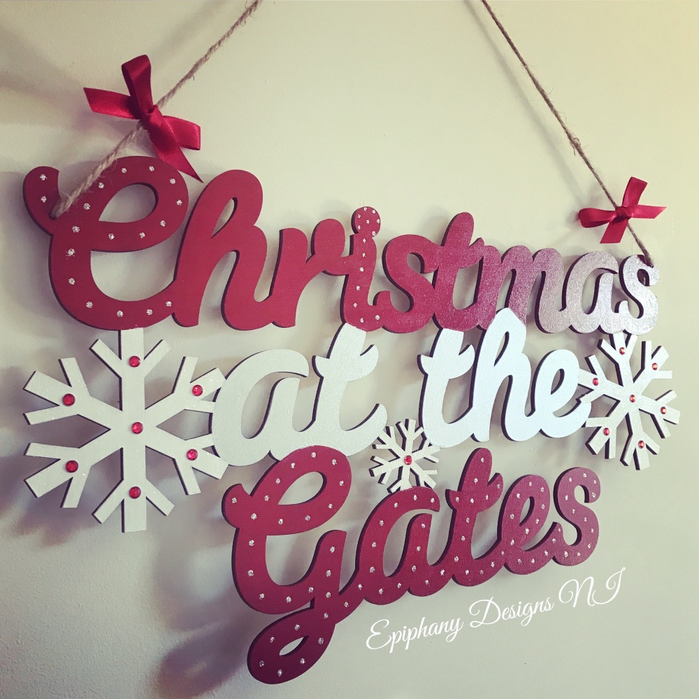 Christmas at the ..... Sign - New Snowflakes