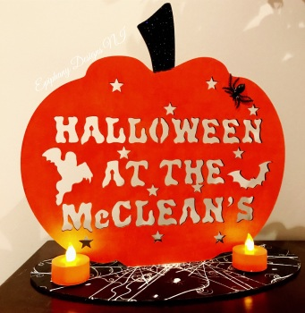Freestanding Halloween at the .....pumpkin sign