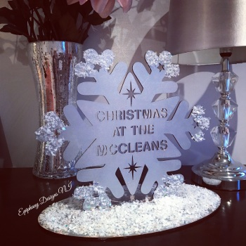 Large Silver Snowflake -  Christmas at the ..... freestanding