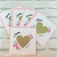 Will you be my Bridesmaid, Maid of Honour, Flowergirl Scratch card - Gold heart