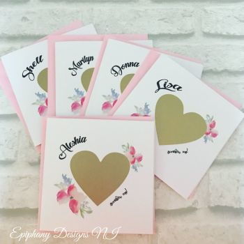 Will you be my ?? Gold Scratch card - Bridesmaid, Maid of Honour, Flower Girl Card