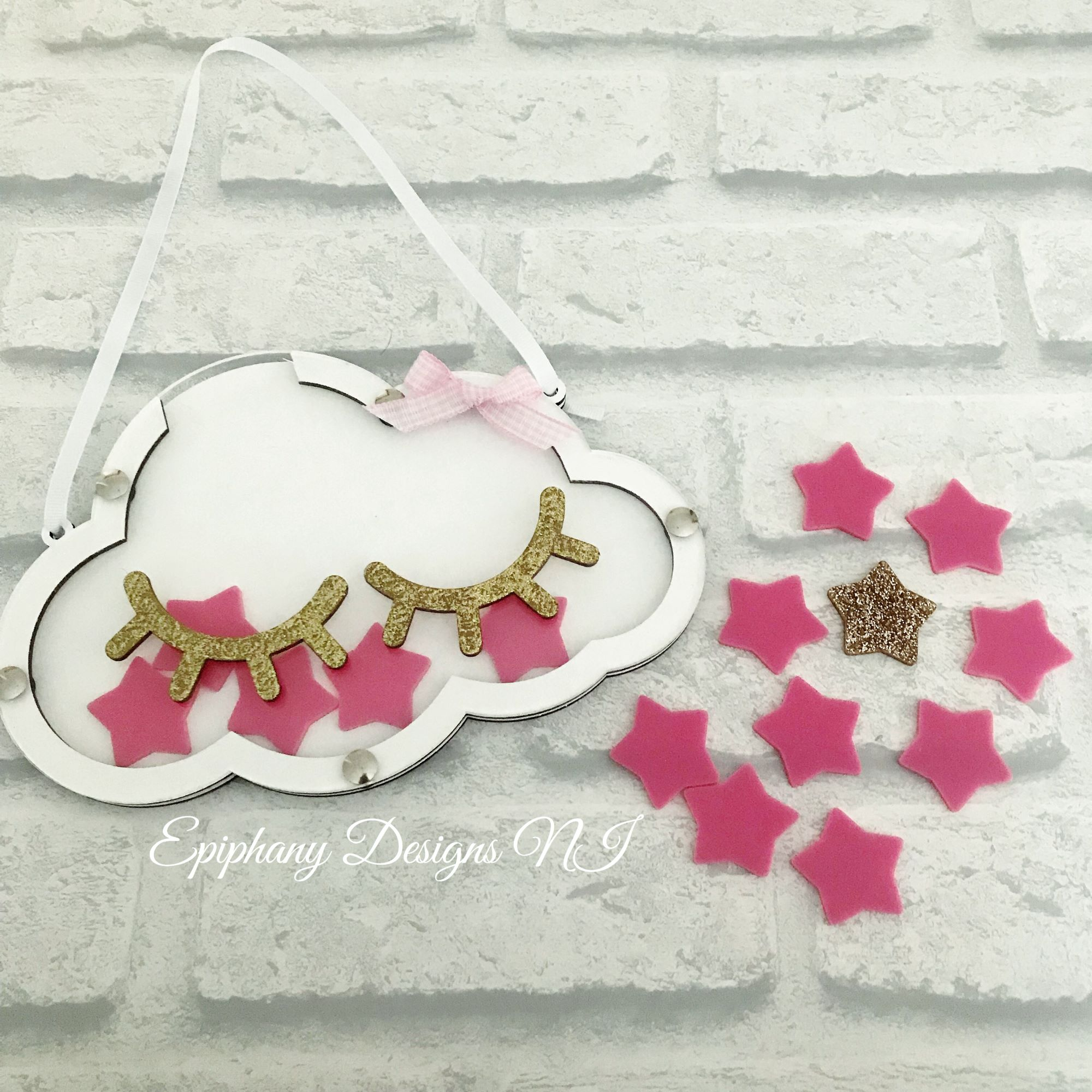 Reward Drop chart - Sleepy Cloud with glitter eyelashes