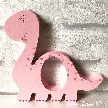 Easter Egg Holder Dinosaur for Kinder Egg Personalised Pink