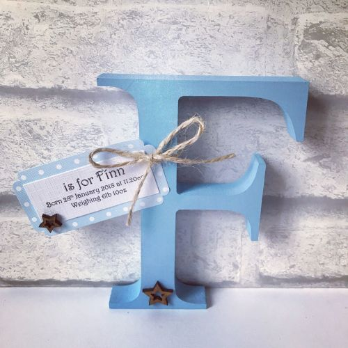 Freestanding Wooden Initial - Boy