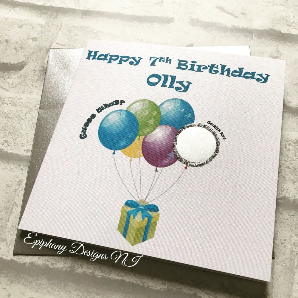 Scratch the Balloons to Reveal Message Card - Birthday Card