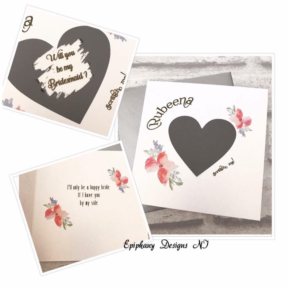 Scratch to Reveal Personalised Cards