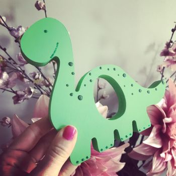 Easter Egg Holder Dinosaur Personalised Green