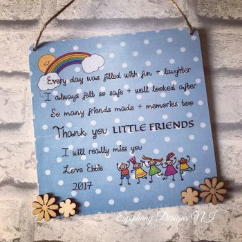 Personalised Day Care / Playgroup / Nursery Plaque Large