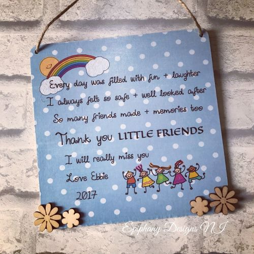 Personalised Daycare Plaque