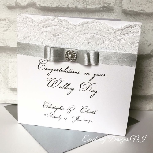 Chic Boutique Range Engagement or Wedding Day Congratulations Lace