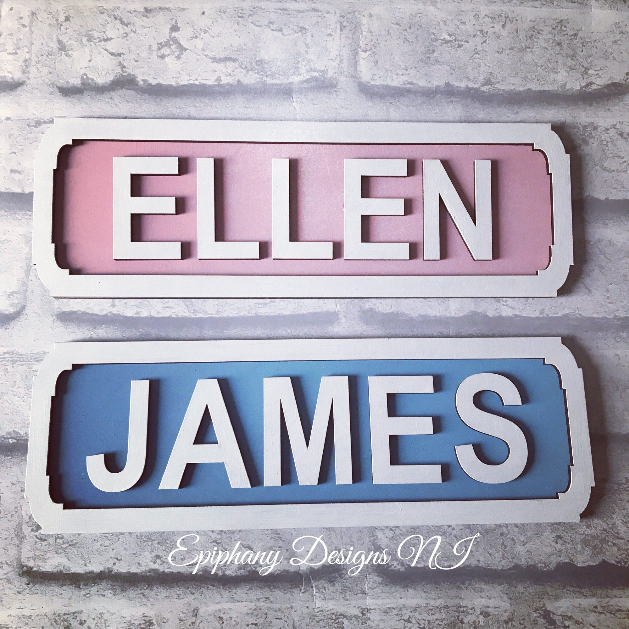 Street sign 10cm personalised kids bedroom