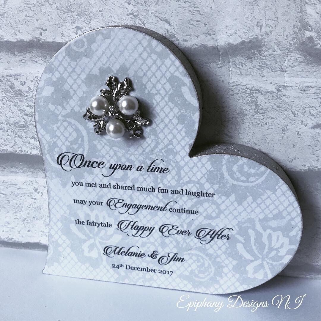 Engagement Freestanding Heart with personalised quote
