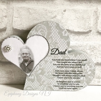Freestanding Heart in Heart Memorial with Personalised poem