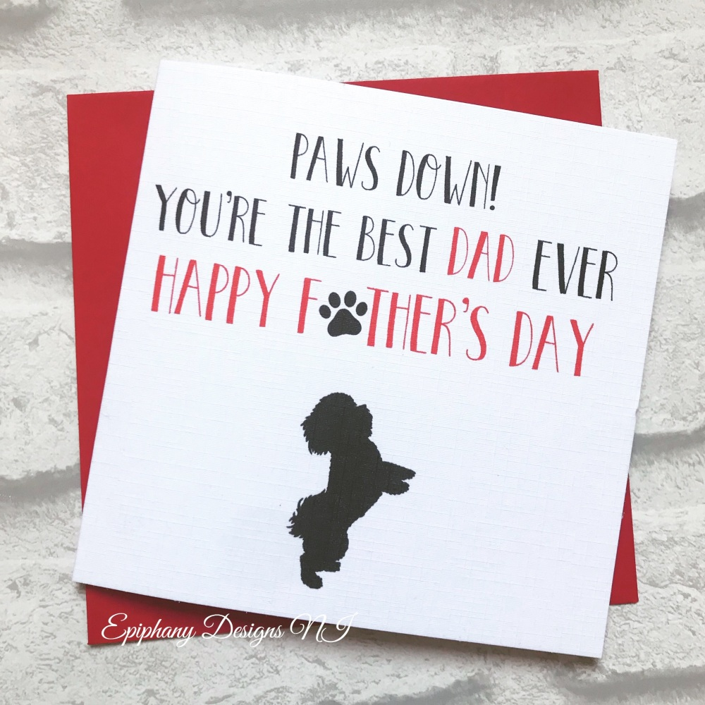 Paws down ???? Fathers Day Card from the pet