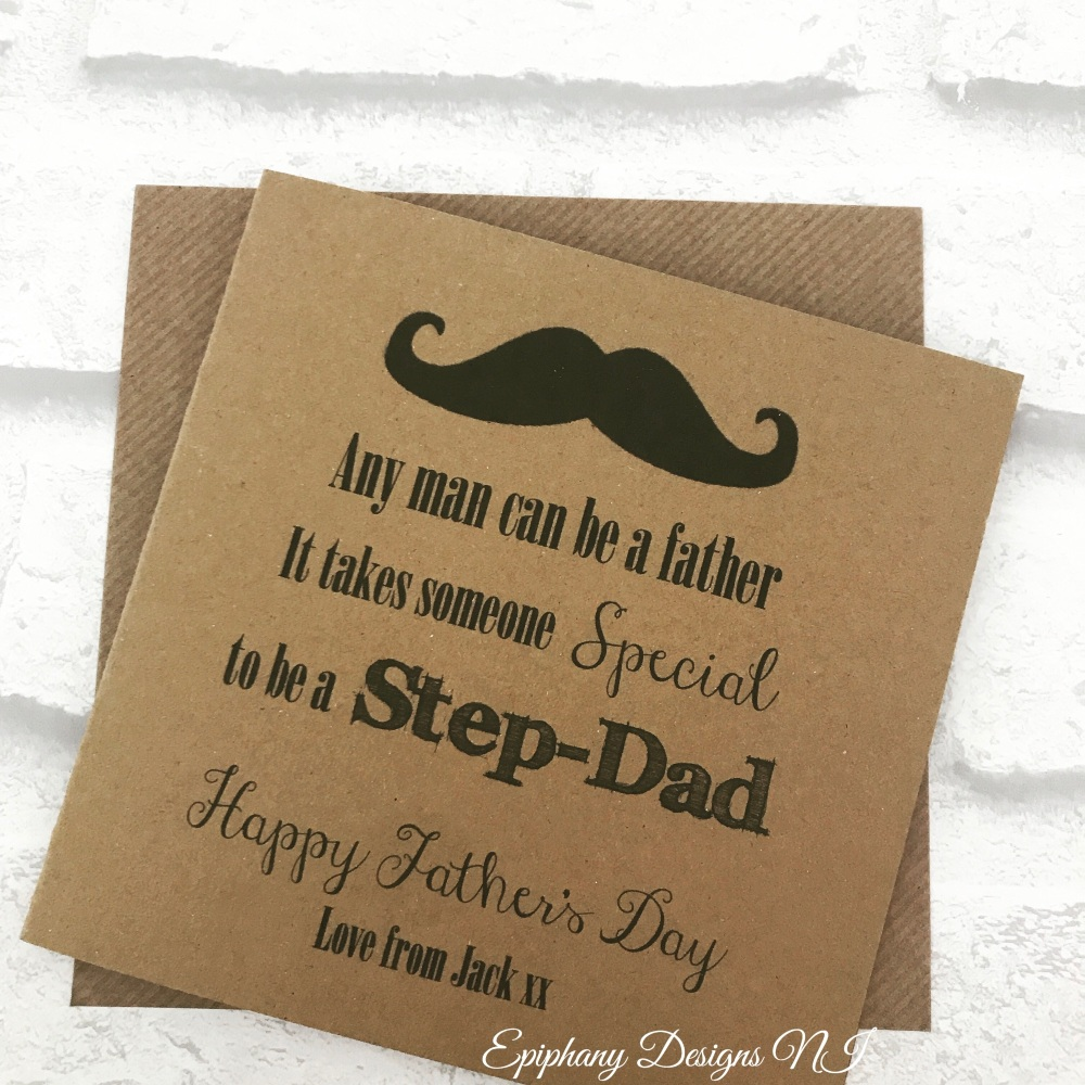 Fathers Day Card - Stepdad, Stepfather
