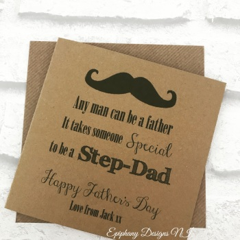 Fathers Day Card - Stepdad, Stepfather