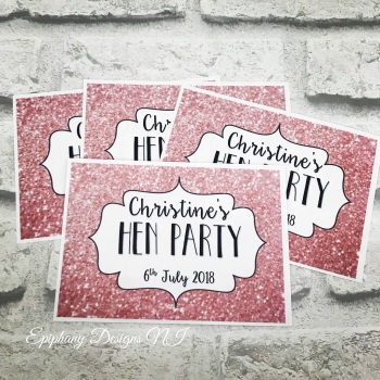 Hen Party Wine or Prosecco Bottle Labels