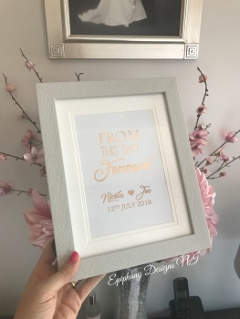 Foil Print - Always and Forever - Personalised (framed/unframed)