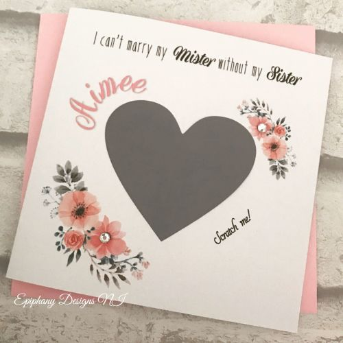 Will you be my Bridesmaid, Maid of Honour, Flower Girl Card - I cant marry