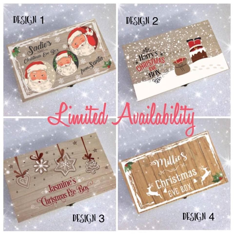 wooden christmas eve box personalised