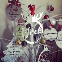Mirrored Antler Personalised Bauble
