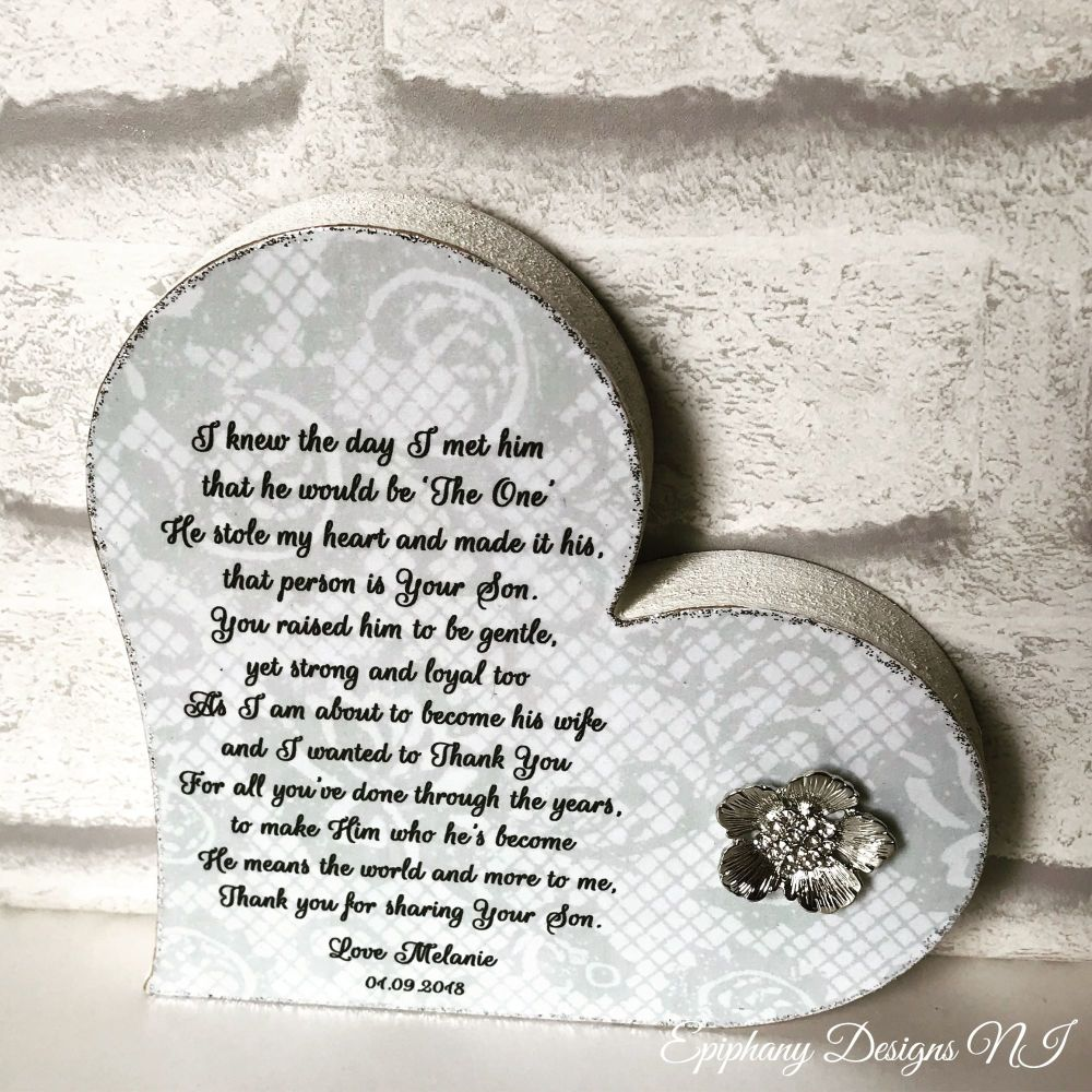 Mother of the Groom Freestanding Heart Poem 2