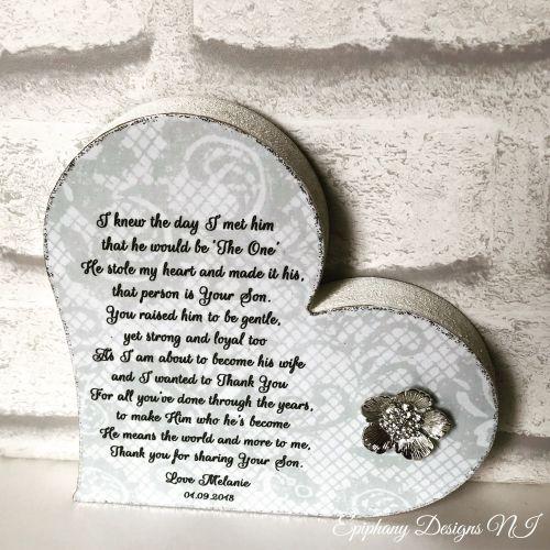 Mother of the Groom Freestanding Heart Poem 2
