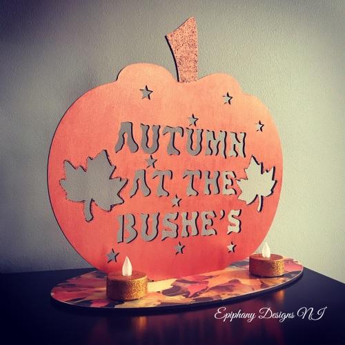 Freestanding Autumn at the .....pumpkin sign