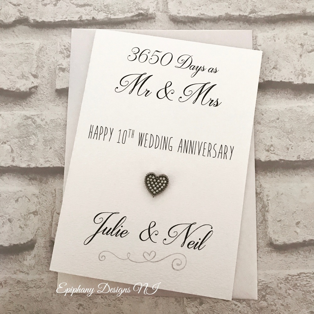 Wedding Anniversary Congratulations Card Large - how many days married
