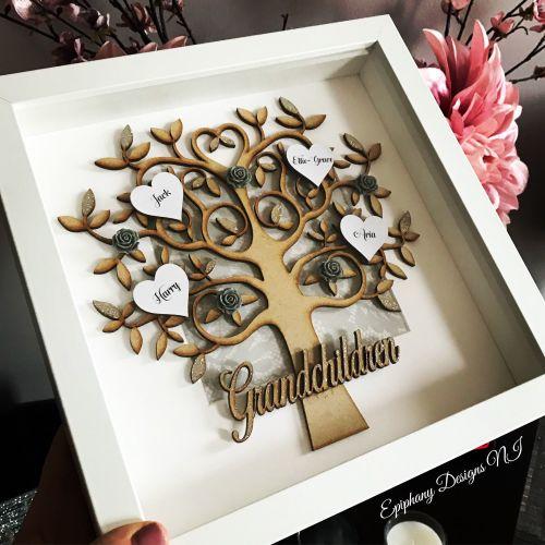 Grandchildren Family Tree Box Frame