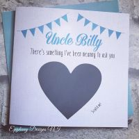 Will you be my Godfather Scratch card - Bunting Blue