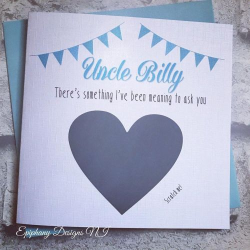 Will you be my ?? Scratch card - Godfather - Bunting