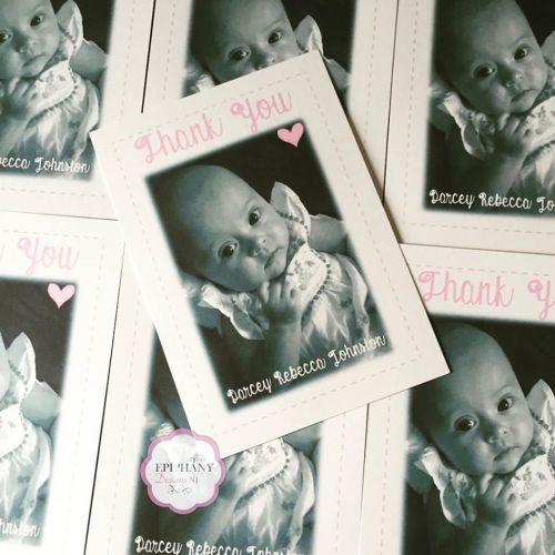 Personalised Baby Thank You Postcard with Photo -  Pack 10