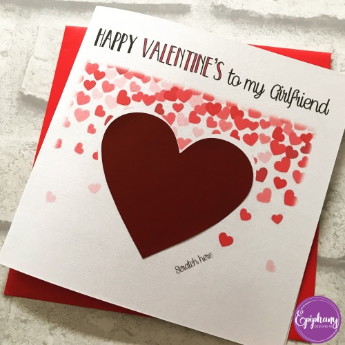 Scratch to Reveal Valentine's Card - scatter hearts