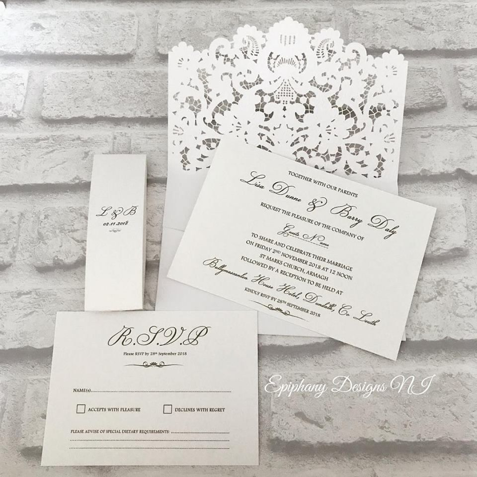 wedding paris pearl lasercut invite