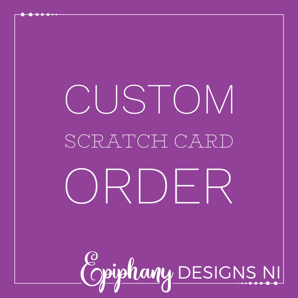Scratch to Reveal Personalised Card - Custom order request