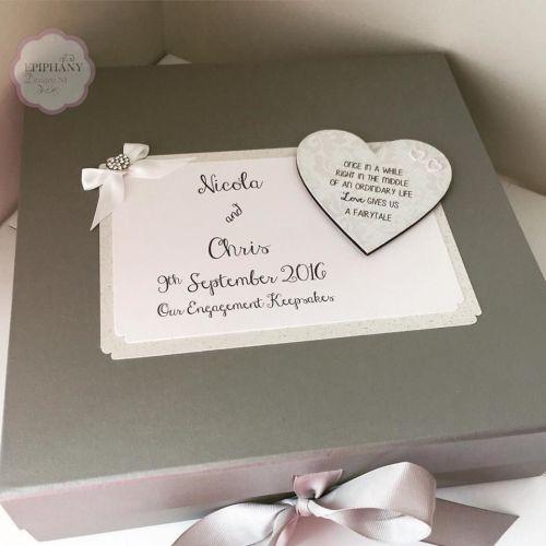 Engagement Keepsake Box with photo