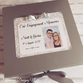 Engagement, Wedding, Anniversary Keepsake Box with photo