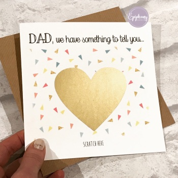 Scratch to Reveal Card - We/I have something to tell you