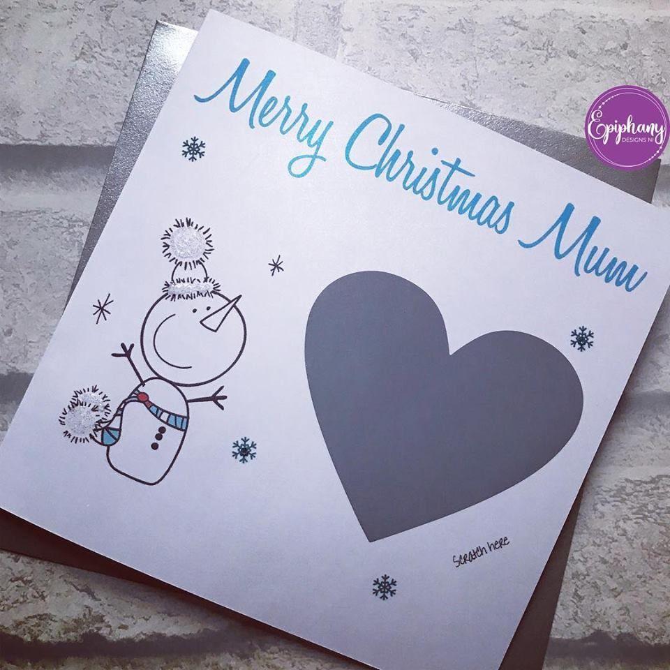 Scratch Card - Christmas Surprise Snowman design