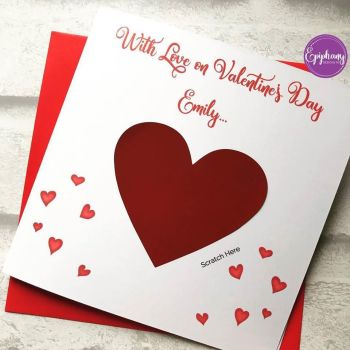 Scratch to Reveal Valentine's Card - with love on Valentines