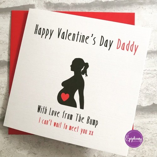 Happy Valentines Day Daddy Card from the bump