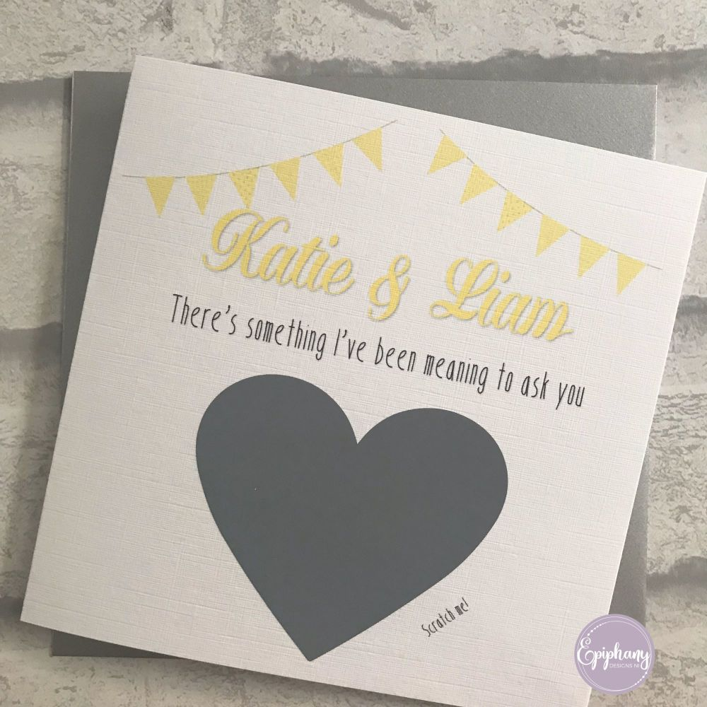 Will you be my ?? Scratch card - Godparents - Bunting