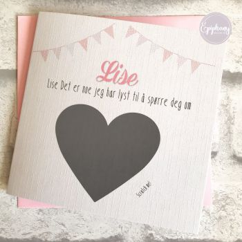 Will you be my Godmother Scratch Card - Bunting Pink